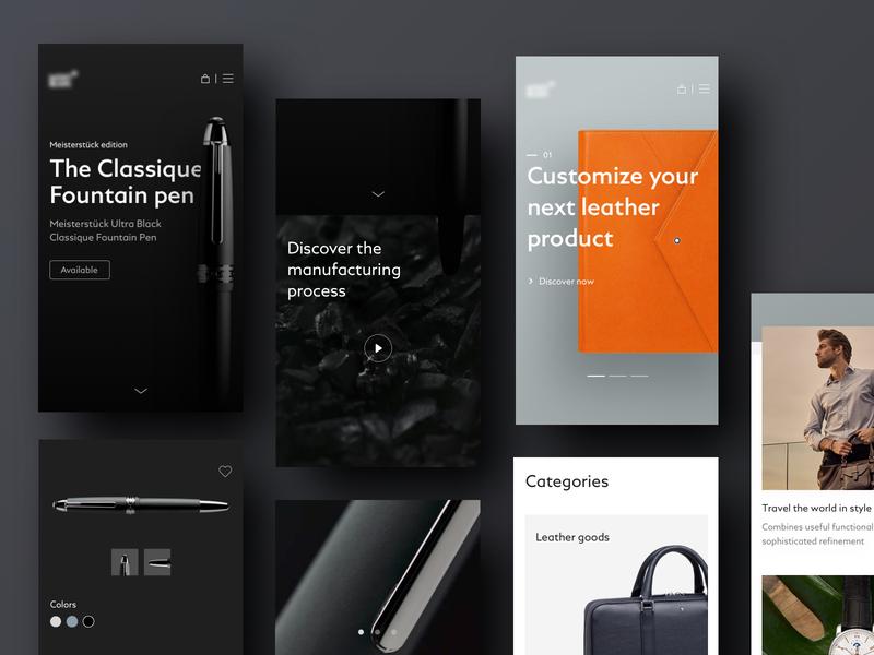 Luxury Shop - Mobile Web mobile app web app mobile luxury design luxury ui shop product design eshop ecommerce app ecommerce