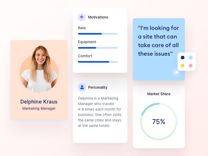 Evolt Design Suite: User Persona valentin salmon evolt design thinking webapp design app user personas user persona
