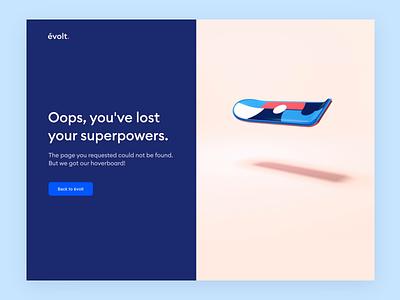 Evolt Design Suite: 404 cinema4d c4d 3d animation 3d superpowers évolt landing website 404 error 404 page 404