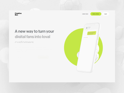 CreativeBot.ai is launch! landing homepage website ux ui ai product interaction animation motion design interaction landingpage creative bot valentin salmon
