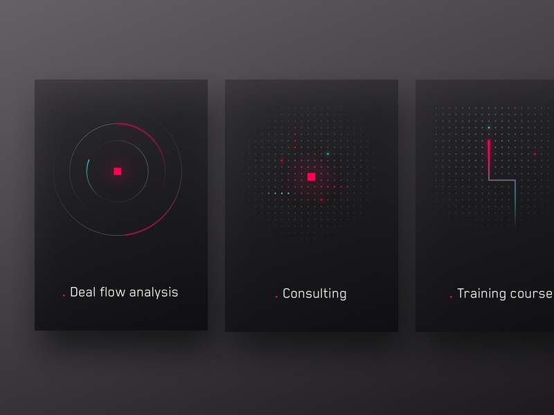 Convey complex ideas into simple shapes valentin salmon card design card app bitcoin crypto retrowave minimalist illustration interface ux uiux ui