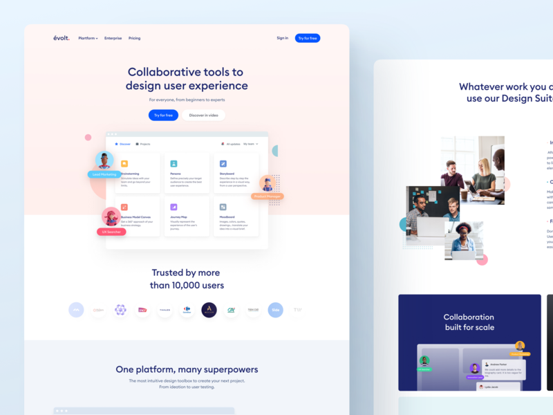 Evolt website V2 is online 🎉 valentin salmon evolt 3d experience design user experience user interface ux ui homepage minimalist interface web design website webdesign persona landingpage landing