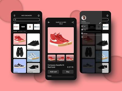 Local Indonesian shoe store application design app design minimal ux ui