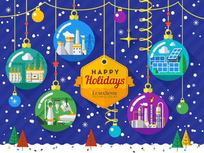 Industrial Christmas II industrial greeting steel energy oil petrochemical winter new year holiday xmas christmas flat