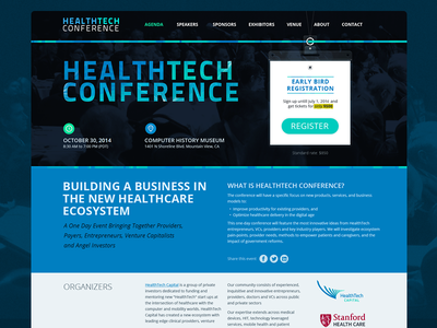 HealthTech Conference website healthtech conference website layout