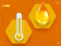 Temperature icons for website