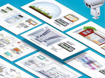 Schemes infographic industrial scheme corporate graphic clean vector