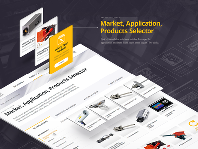 Products Selector redesign selector product industrial corporate interface website web design