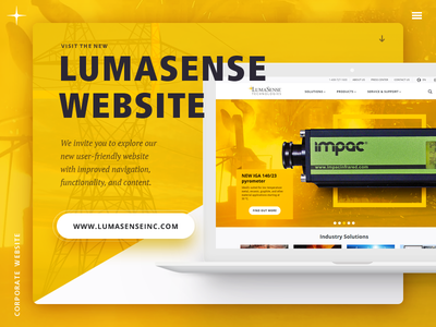 Website  redesign selector product industrial corporate interface website web design