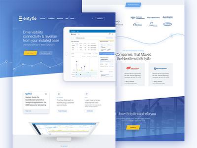 Entytle Website aftermarket data webdesign logo website