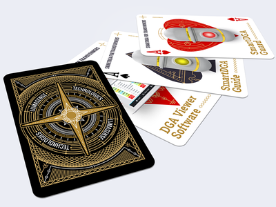 Corporate playing cards deck backside ace suit spades ♠ hearts ♥ diamonds ♦ aces playing cards