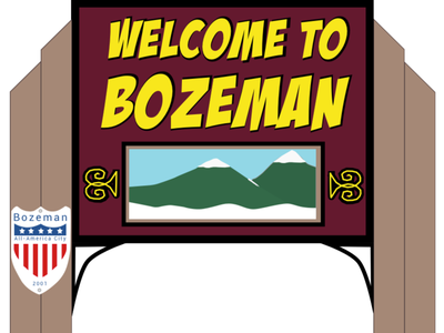 Bozeman (Southpark style) Signs animate cartoon signs southpark bozeman