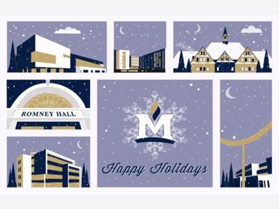 Montana State University Holiday Card