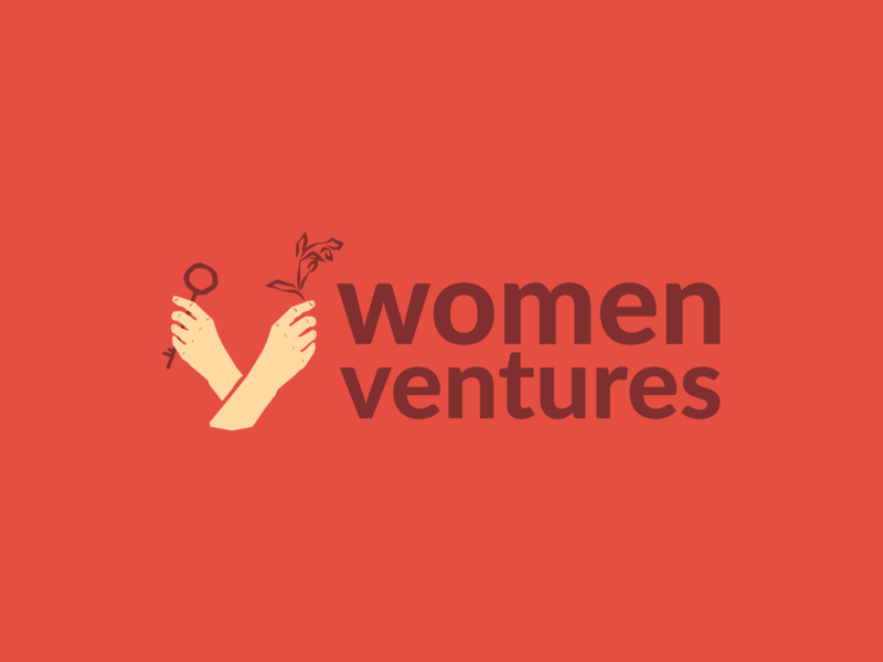 Logo design - Women Ventures hands business independant women empowerment key women logo design logo identity design branding