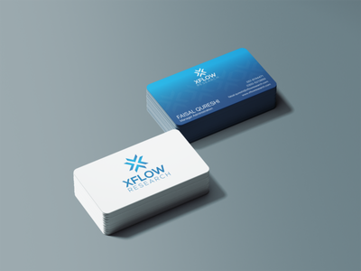 XFLOW Business Card blue graphic design pattern logo branding business card design businesscard brand identity