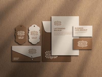 Stationery Mockup/Brand Presentation minimalist special stationery business card latterhead product mockup branding logo