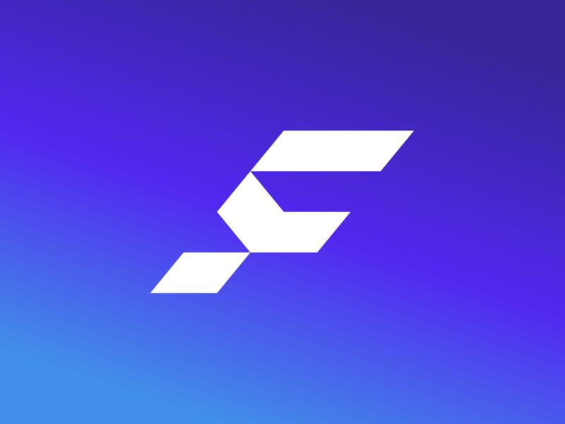 Fremantle Industries simple mark flat letter f technology logo blockchain industry modern development software