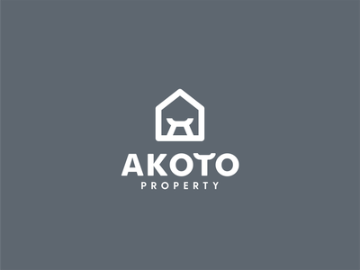 Akoto Property realestate estate akoto mark simple stool queen interior investment property homes house logo