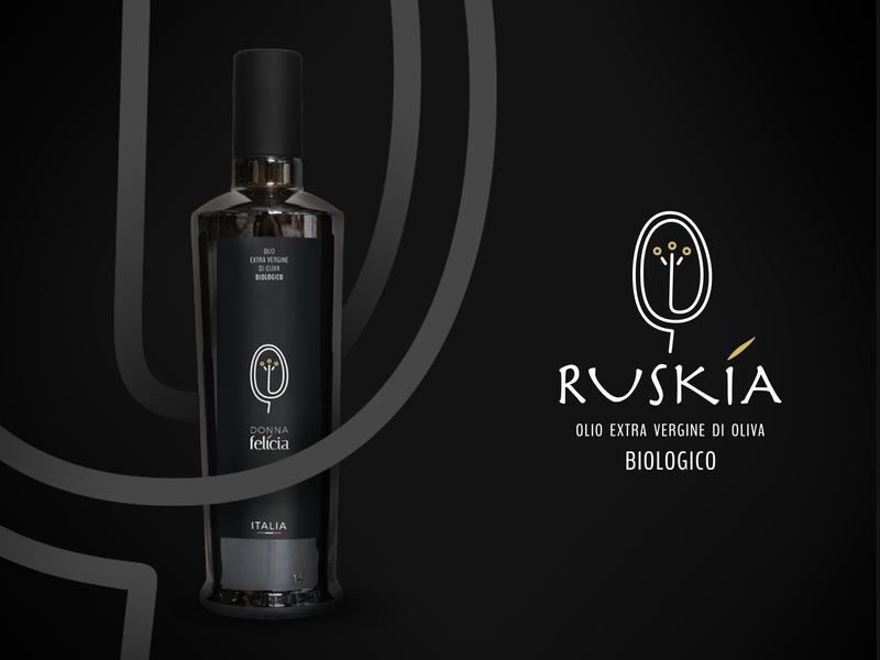 Olio Ruskia Donna Felicia 2020 italia award bio 2020 ruskia olio olive oil design label oil olive