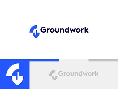 Groundwork concept 3 flat themes dig digital work ground developer app chatbot chat shovel g letter lettermark double meaning concept logo