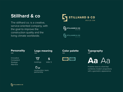 stillhard & co simple double meaning negative space swiss quality logo buildings historical teacher designer facade design interior expert plastery molding construction