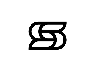 S s letter logo abstract concept mark unused line simple letter s lettermark