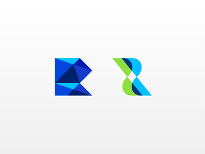 R product surface clean cleaning transparency polygons layers r letter logo r r letter concept lettermark simple