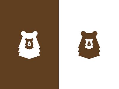 big bear small bear tiny cute hidden family animal big small baby bear concept logo negative space