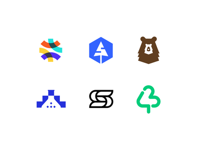 my top logos of 2020 negative space double meaning marks concept tree s letter lettermark labs nature bear development coding shots liked 2020 toplogos logo