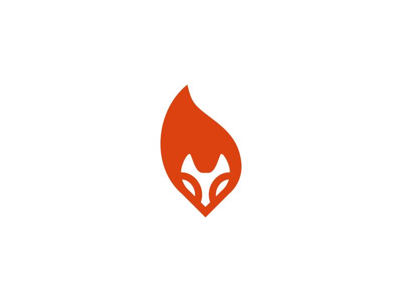 Fox - logo design concept fox tail fox face animal fox logo logo fire simple fox tale fox