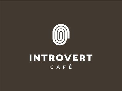 Introvert cafe - logo design concept