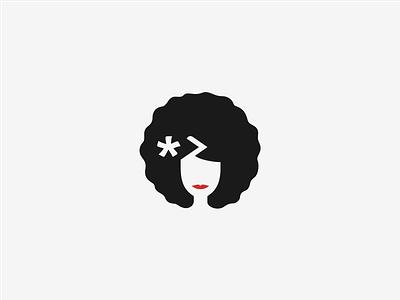 concept logo for coding school logo rwanda school coding code girl afro