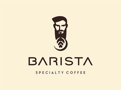 barista foam cappuccino specialty beard face man coffee logo coffee shop coffee cart coffee barista