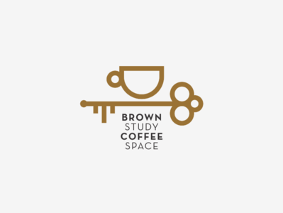 BROWN STUDY coffee space logo line study cup key cafe space events shop coffee