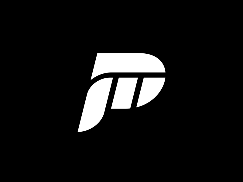 Pi concept fashion clothing simple double meaning negative space pi mark symbol lettermark letter p p letter