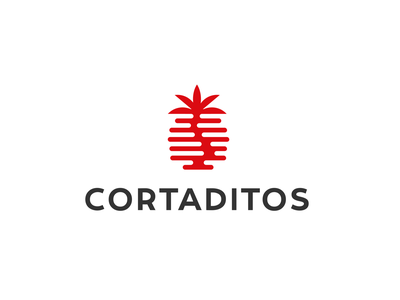 Cortaditos cafe double meaning sunset palmtree tree palm simple concept logo bakery coffee shop cafe bean coffee
