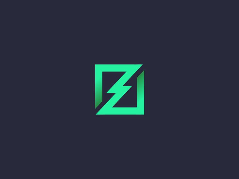 bolt mining bold simple unused concept logo bolt