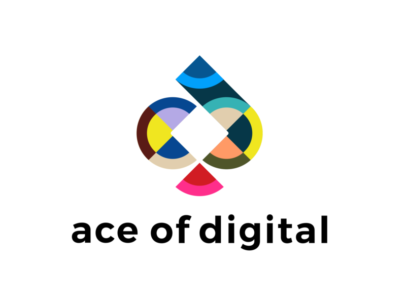 ace of digital colors marketing site abstract unused logo marketing digital ace of spades ace