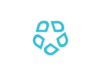 StarDental star dental dentist logo blue d symbol