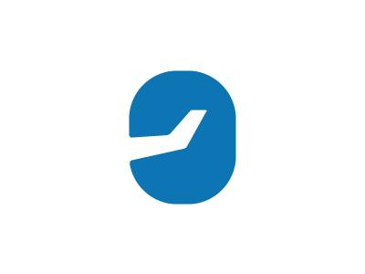Airline Service School flight fly sky symbol logo airport plane airplane window school service airline