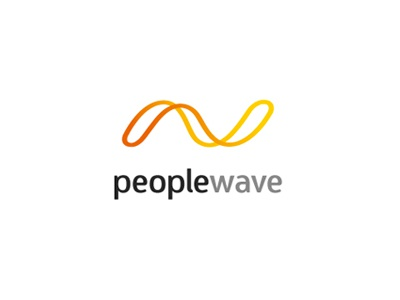 Peoplewave claugrafico rueda claudia caceres diego oven design identity brand logo wave people wave
