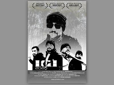 IGI 2020   Movie Poster adobe photoshop blackandwhite poster art film poster minimal vector illustration design