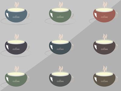 Coffee Cups   Illustration adobe illustrator icon vector logo minimal illustration design