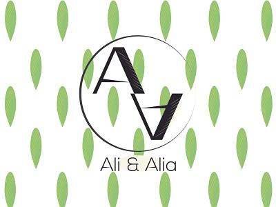 Ali & Alia   Logo branding logo adobe illustrator vector minimal illustration design
