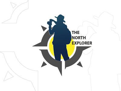 The North Explorer   LOGO minimal vector branding adobe illustrator design illustration logo
