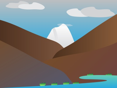 Bilchar Peak vector sky scene landscape peak mountains adobe illustrator design illustration