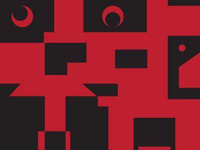 Spooky Wall vector shapes wallpaper minimal adobe illustrator illustration design weeklywarmup
