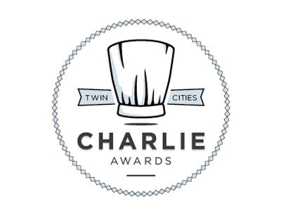 Charlie's again.. awards logo food awards chef hat twin cities