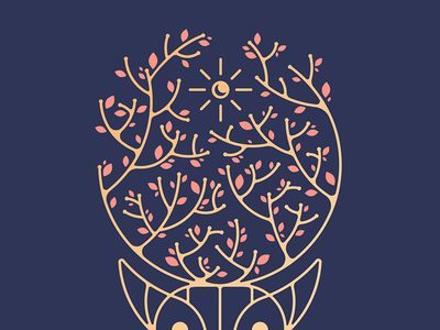 Sunnmøre Valley Deer games dots  co pedals tree moon sun deer illustration