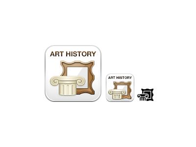 Art History boundless art history icon greek column column frame white bronze brown